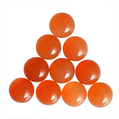 CARNELIAN 8 MM ROUND CUT CABOCHON ALL NATURAL