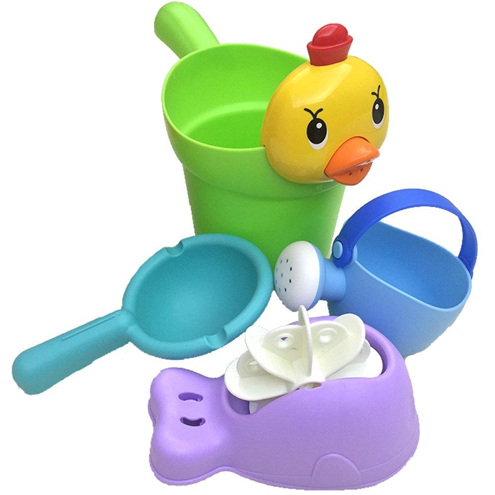 Xifan Children Bath Toys Set-4pcs,Water Cup,Water Spinner,Water Pot,Water Scoop,Random Color