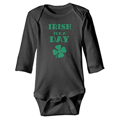 Saint Patrick's Day Irish For A Day Printed Unisex Baby Infant Warm Long Sleeves Rompers Onesies
