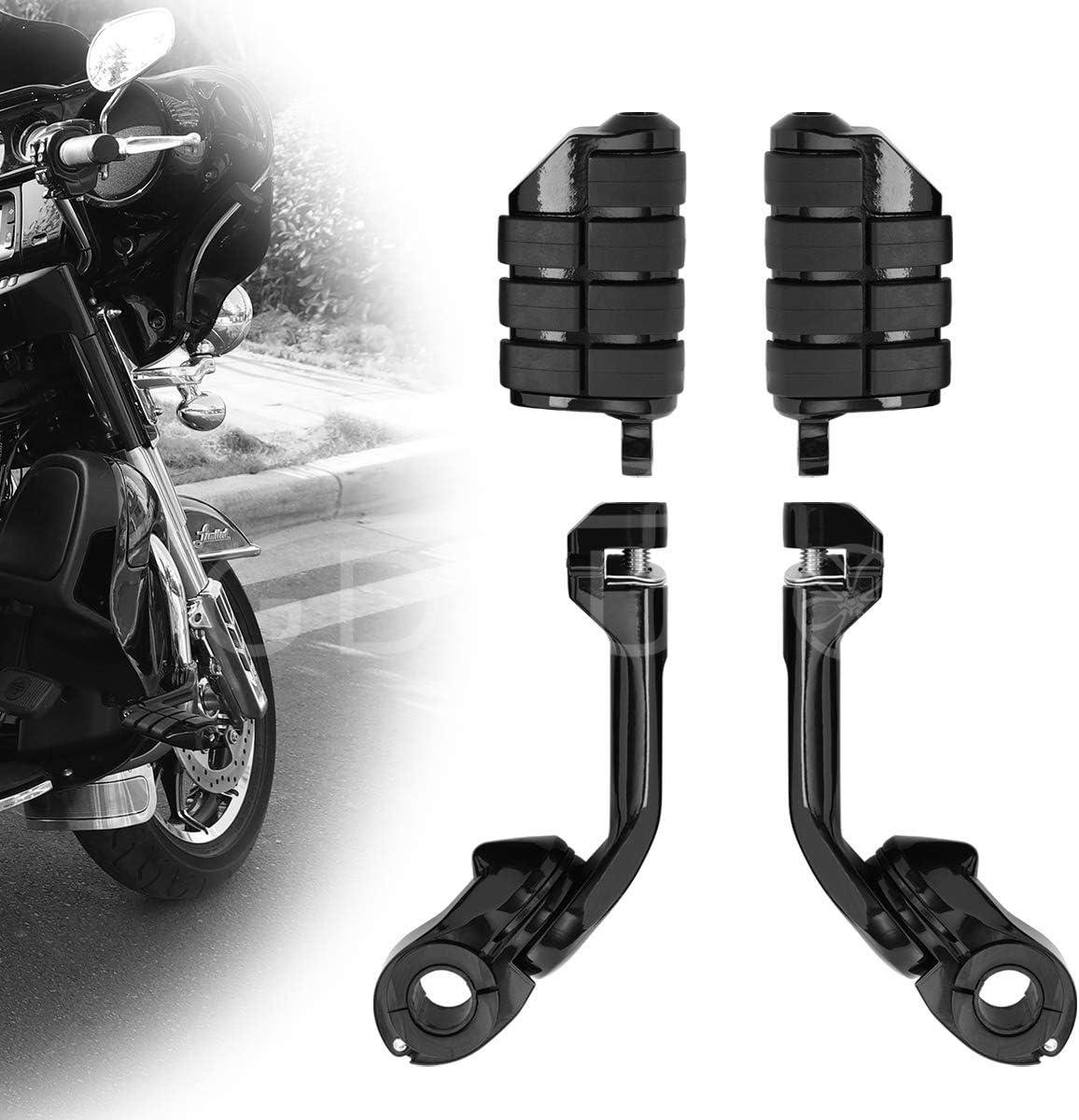 Highway Pegs Motorcycle Footpegs Foot Rest(Black) for Harley Honda Road King Street Glide Yamaha Suzuki Kawasaki Engine Guard