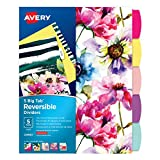 Avery Big Tab Reversible Fashion Dividers, Assorted Designs, 5-Tab Set (24950)