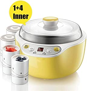 Electric Pressure Cooker with Instant Stainless Steel Pot, Program Slow Cooker, Steamer, Sauté, Yogurt Warmer, Extra Glass Lid JIAJIAFUDR