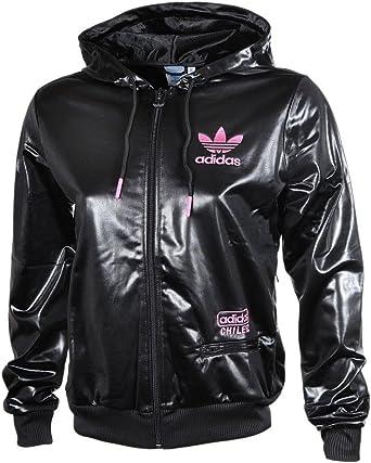 Médico Dedicar Haz lo mejor que pueda  adidas Originals Mujer W C62 Diamond FZ Chaqueta con capucha chaqueta,  color negro brillante negro Small: Amazon.es: Ropa y accesorios