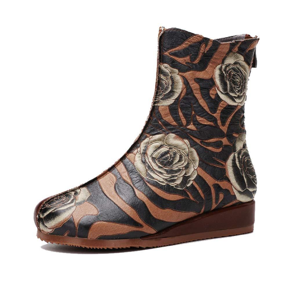 ZPEDY Chaussures pour pour Femmes, Chaussons, Vintage, Confort, Personnalité, ZPEDY Mode, Mode, Fermeture éclair Brown 623d9cd - latesttechnology.space