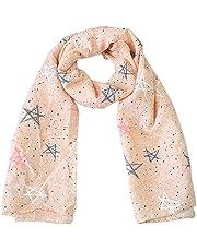 Hosaire Bebé Pañuelos de Cuello del Lino del bebé Unisex de la Bufanda para Niños Niñas Patrón de Big Star 140 * 40cm (Rose)