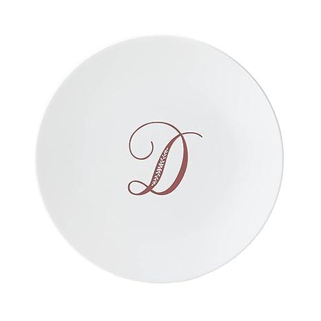 amazon com lenox 878343 merlot script d accent plate letter d