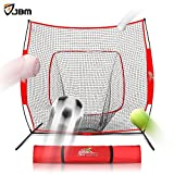 "JBM Baseball Badminton Net Softball Practice Hitting Net 7 x 7""with Bow Frame and Carry Bag Portable for Softball and Baseball Pitching Hitting Practice"