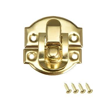 Sourcingmap – Caja de cierre, estilo retro, tamaño pequeño, dorado ...