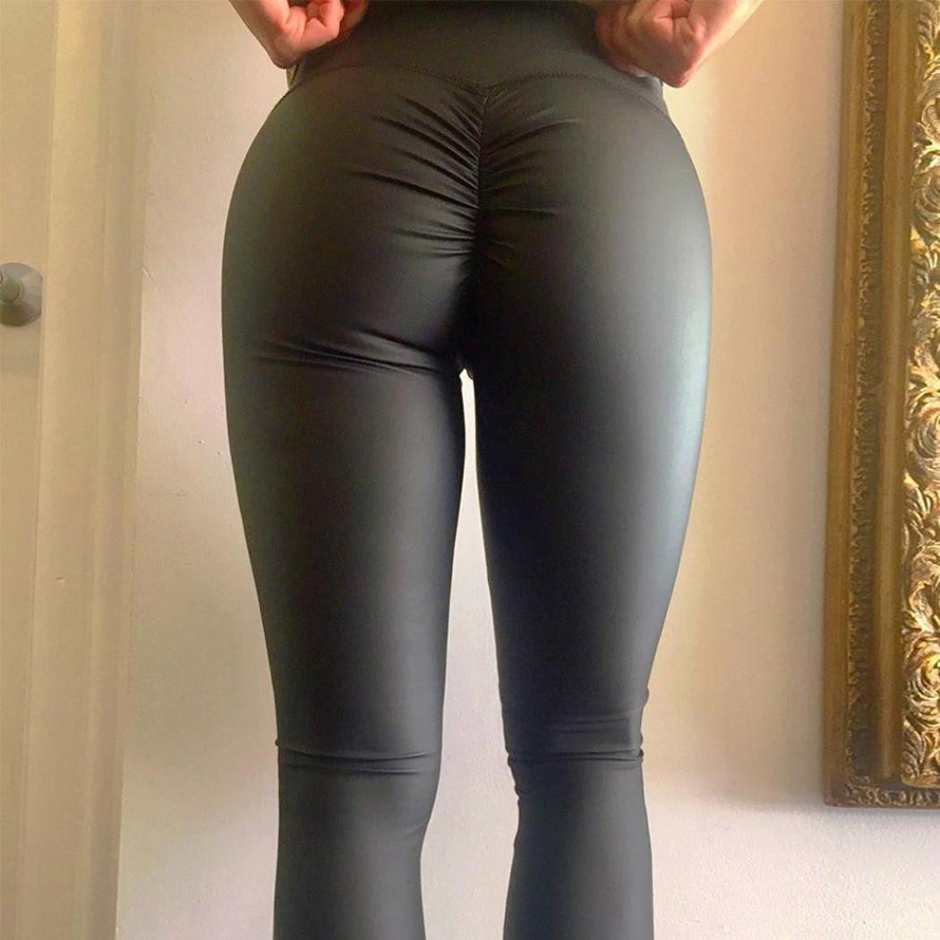 e93b8f4ba8062 Pantalons de Sport/Yoga pour Femmes Reaso Stretchy Sports Leggings Dames  Taille Haute Collants Skinny Slim Fit Fashion Yoga Fitness Jogging Gym ...