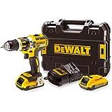 DEWALT DCD795D2-QW - Taladro Percutor sin escobillas XR 18V 13mm 60Nm con 2 baterías Li-Ion 2,0Ah con maletín TSTAK