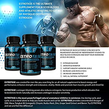 ESTROTASE Maximum Strength Estrogen Blocker – Natural Aromatase Inhibitor – Hormone Balancer