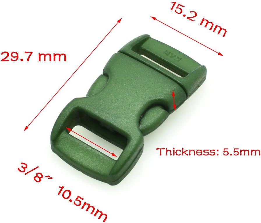 110/pcs 3//20,3/cm color/é Profil/é c/ôt/é Release Boucles pour bracelet Paracorde 11/couleurs 10/de chaque