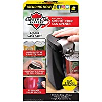 Original Safety Can Express As Seen On TV by BulbHead - Easy One-Touch Operation - Effortless Electric Can Opener Leaves Smooth Edges - Works On All Types of Cans - Lids Fit Back In Place for Storage