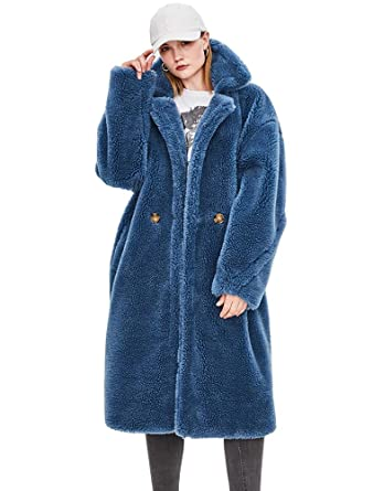 1aba796d73b7 Murfhee Women's Winter Real Sheep Fur Thick Coat Maxi Long Parka (US 4-8