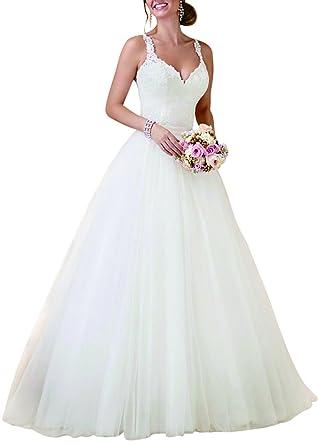 BRLMALL Damen Brautkleider Abnehmbare Rock Brautkleider: Amazon.de ...