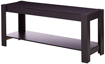 Amazon Com 42 Inch Tv Stand Slim Low Floor Wood Storage
