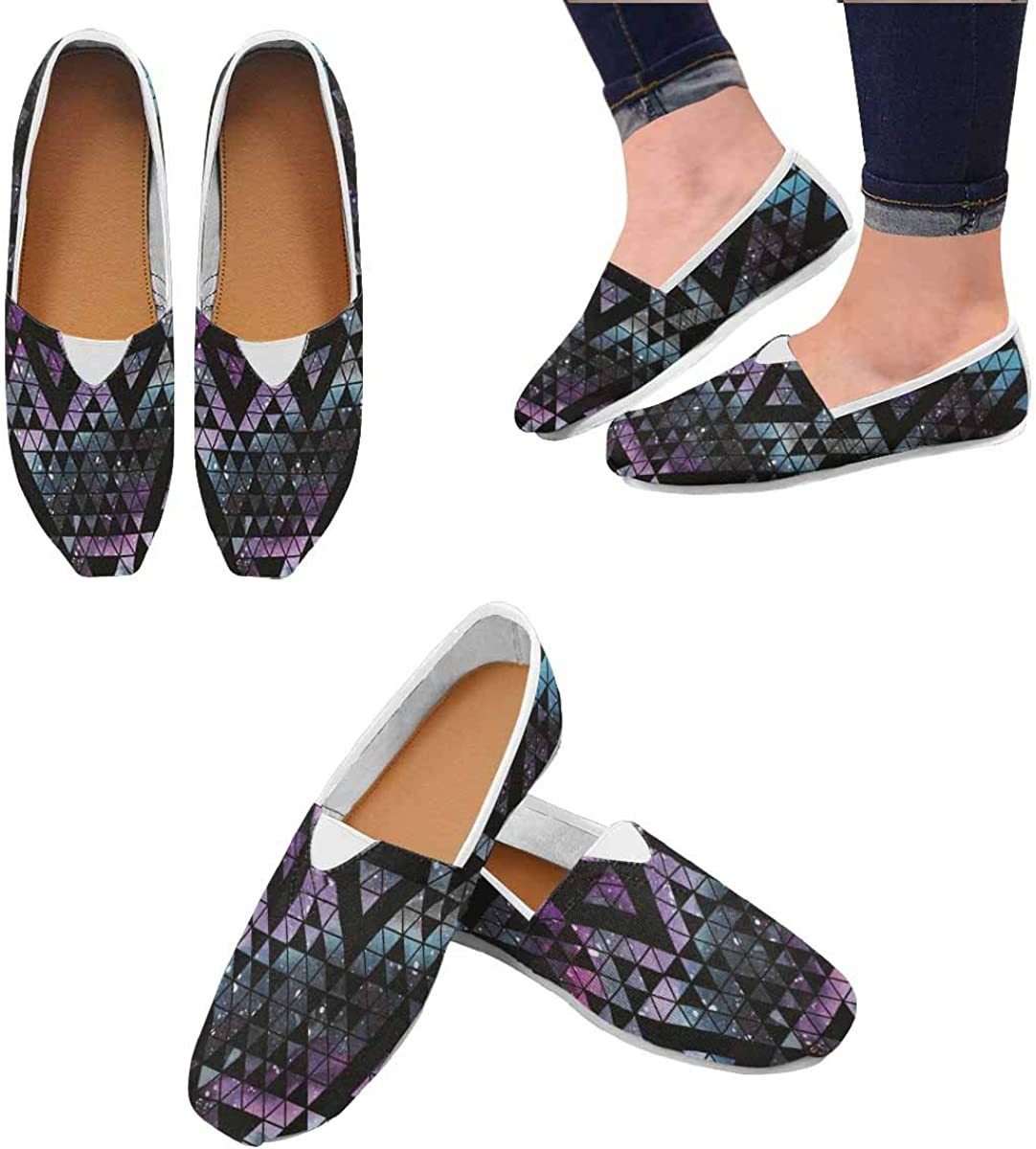 INTERESTPRINT Womens Casual Loafers Canvas Flats Shoes US4.5~US14