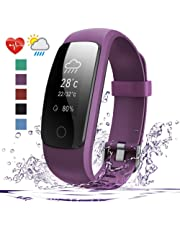 Fitness Tracker HR, 007plus D107Plus Heart Rate Monitor Fitness Smart Watch Activity Tracker with Sleep Monitor Pedometer Smart Wristband for Android and iOS Smart Phone