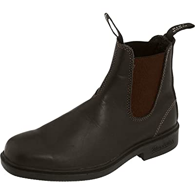Blundstone Dress Premium Leather Unisex Chelsea Boots 062 063 1308 1306 (Stout Brown, 8 D(M) US Men) | Chelsea