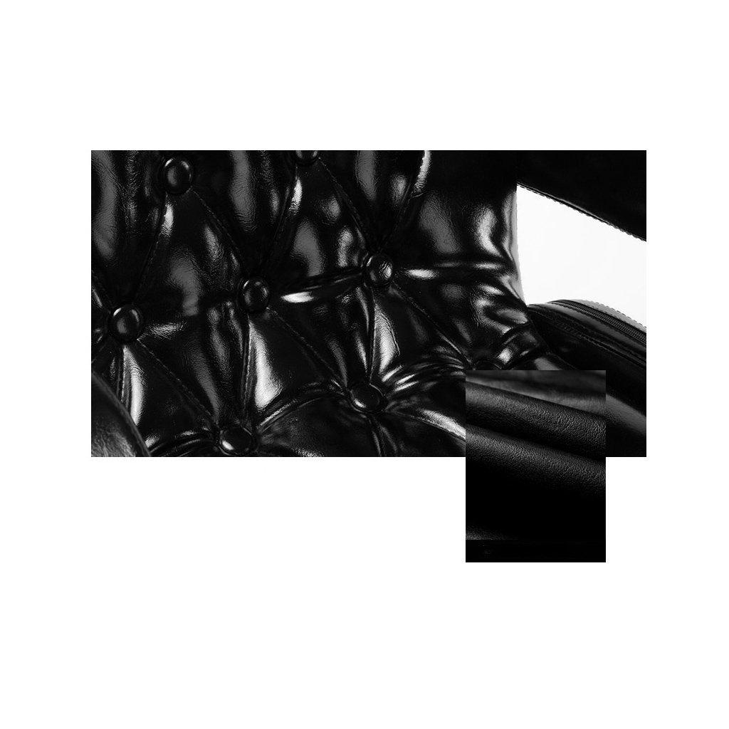 Amazon.de: Luxuriöser schwarzer Barhocker mit Kunstleder-Außen- und