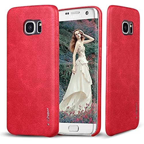 Samsung Galaxy S7 Edge Case, Red, iShawl Premium Samsung Galaxy S7 Edge PU leather back case-soft touch-Form Sales