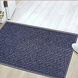 """Jinwen 122668 Entrance Rug Floor Mats Washable Indoor/Outdoor Low Profile Doormat Shoe Scraper Doormat (31.5""""X20"""")"""