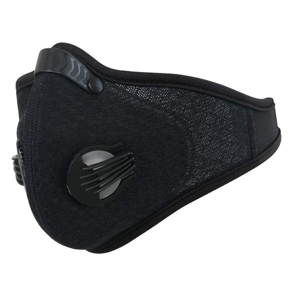 lymty Staubmaske, Upgrade-Version Aktivkohle Staubdichte Maske Winddicht Foggy Haze Anti-Staubmaske Motorrad Fahrrad Radfahren Ski Halbe Gesichtsmaske für Outdoor-Aktivitäten