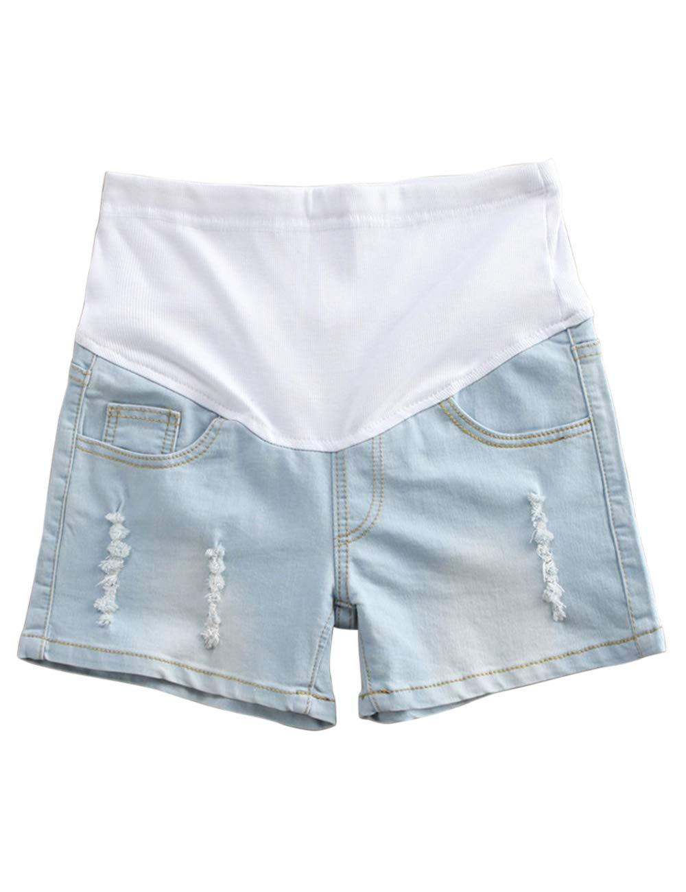 Zhuhaitf Maternity Shorts - Fashion Elastic Waistband Outdoor Pants Pregnant Women
