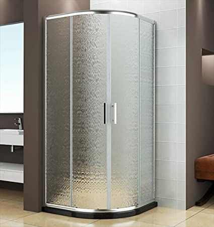 Box ducha semicircular 2 puertas correderas de cristal satinado 6 mm H185 X 90 X 90 cm vorich Itria: Amazon.es: Hogar