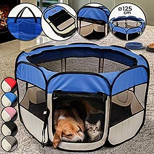 Leopet – Parque para Mascotas/Parque de Juego y Entrenamiento para Cachorros y pequeños Animales – Color a Elegir