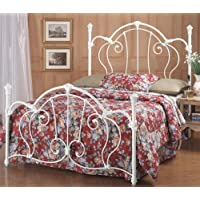 Hillsdale Furniture 381BFR Cherie Bed Set with Rails, Full, Ivory