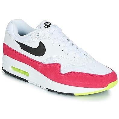 more photos 000d6 9a92e Amazon.com | Nike Air Max 1 AH8145-111 White/Black-Volt-Rush ...