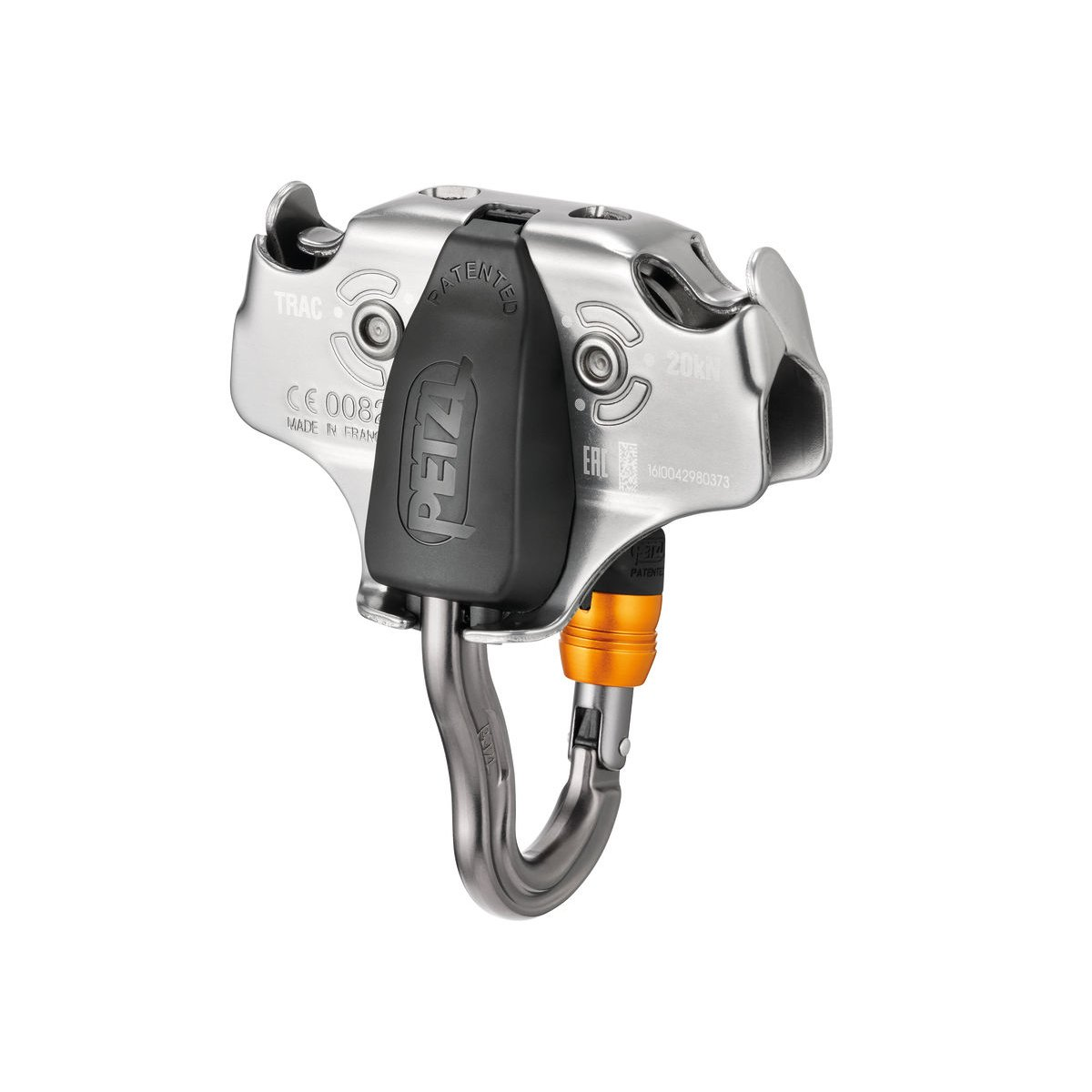 Petzl TRAC pulley with Vertigo Wire-Lock Zipline Pulley