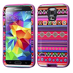 NEW Samsung Galaxy S5 Purple Pink Native Tribal American Hybrid Phone Case Cover + FREE PRIMO DESIGN CARTOON FOLDABLE TOTE BAG!!!