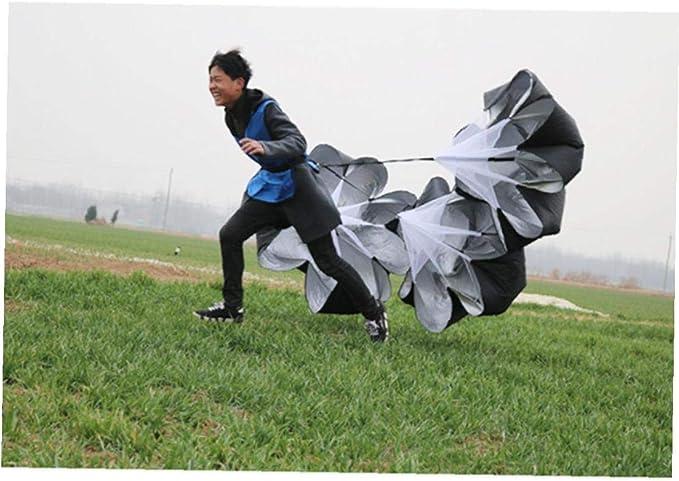 2pc 56 Pouces R/ésistance Entrainement Vitesse Parachute Courir Sprint Chute pour Le Football Puissance Vitesse De Formation