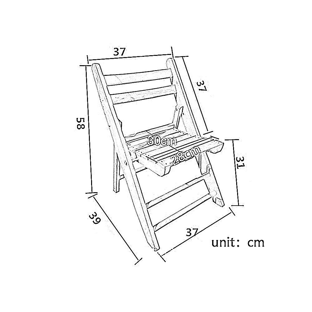 QIDI Kleiner Hocker Klappstühle Holzhocker Im Freien Portabler Angelstuhl Malstuhl Makeup Hocker Schulmöbel Size : S Sitzmöbel