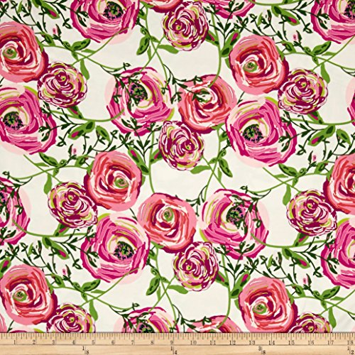 Art Gallery Joie De Vivre Jersey Knit Paradis Sweet Fabric By The Yard by Art Gallery Fabrics