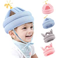 ZukoCert - Casco de seguridad ajustable para bebés y niños, con arneses, para aprender a gatear y caminar