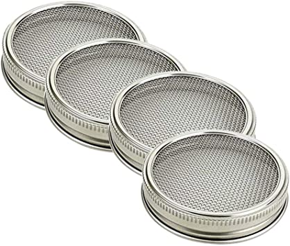 Couvercles /à large ouverture en acier inoxydable pour bocaux Mason
