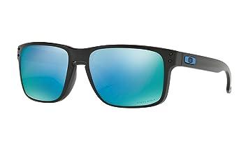 8f267bd00a Oakley Holbrook Sunglasses (Polished Black Frame Prizm Deep Water Polarized  Lens (OO9102-C1))