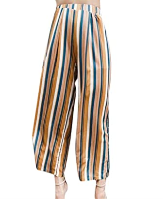 Sommerhosen Damen Elegant Elegant Gestreift Loose Breites Bein Hosen Frauen Fashion  Mode Apparel Bequem Hose Mädchen Pants  Amazon.de  Bekleidung ab76da86ed
