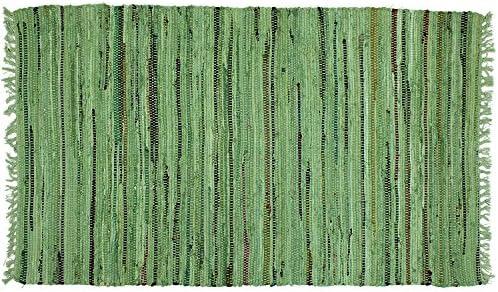 Sturbridge Country Rag Rug in Sage 72 x 108