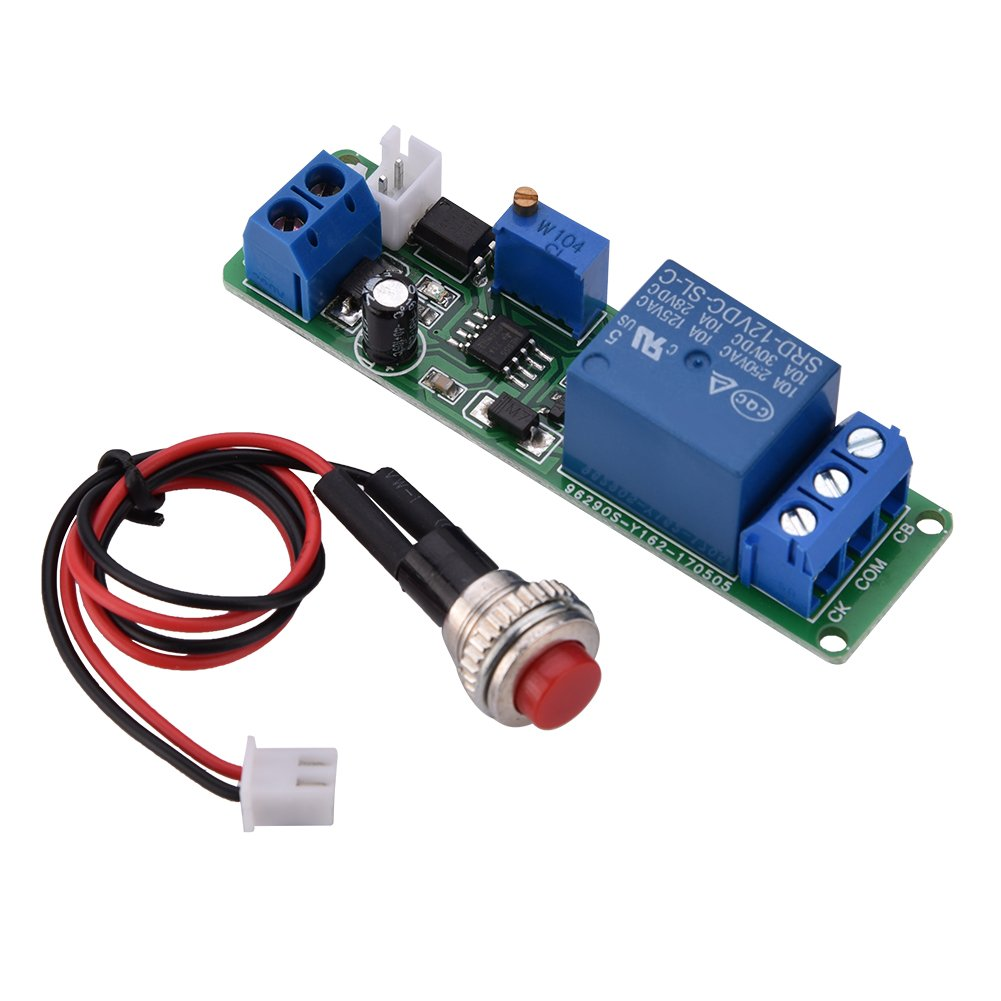Walfront Dc 12v Timing Timer Delay Turn Off Switch Time Relay Loop Dc5v To Dc30v Converter By 74hc14 Module 110s Adjustable Industrial Scientific