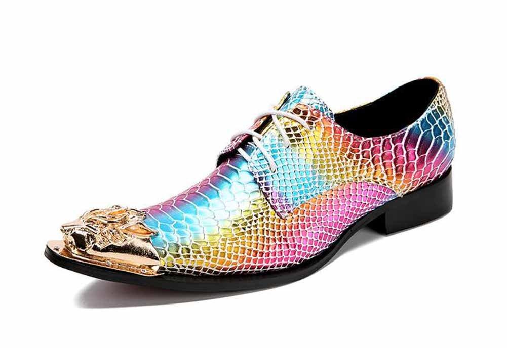GLSHI Männer spitz-Toe Derby Leder Persönlichkeit Nachtclub Schuhe Mode Stylist Stylist Stylist Stage Performance Schuhe Freizeitschuhe 47c388