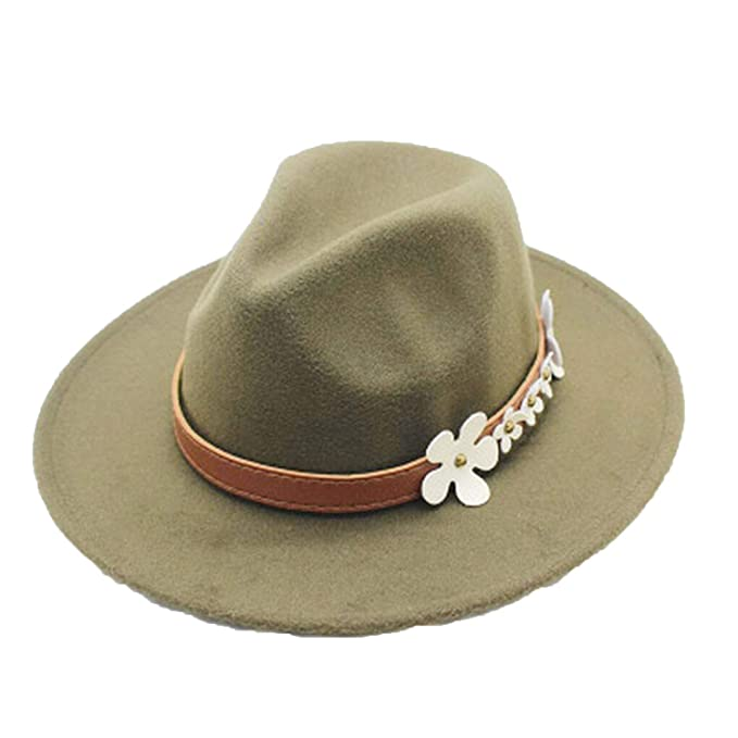 d0a3a56f9f69c Fashion Spring Wide Brim Vintage Wool Felt Hats Women Fedora Men Felt Hat  Jazz Hat Sombrero