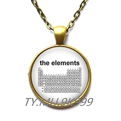 Amazon charming necklace beautiful necklaceperiodic table of charming necklacebeautiful necklaceperiodic table of the elements science jewelry chemistry urtaz Images