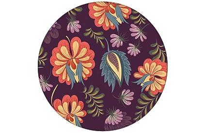 Carta Da Parati Fiori Minimal : Nobile lila floreali carta da parati con grandi fiori di colore
