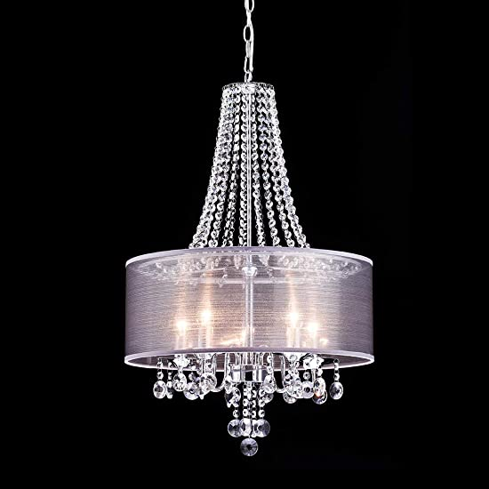 CLAXY Ecopower Lighting Modern Chrome Crystal Chandeliers -5 Lights