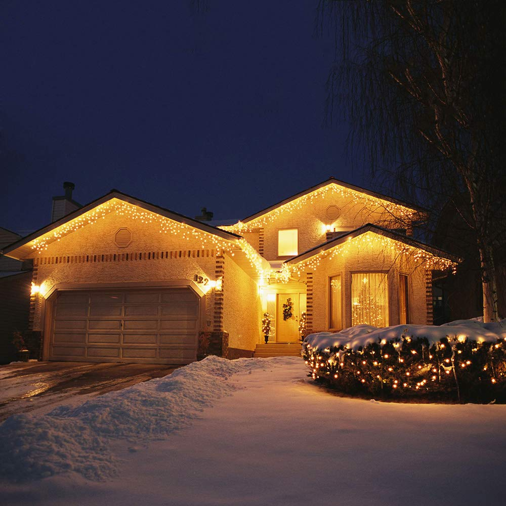 Warm White Foxcesd 2 Pack 33 ft LED String Lights Battery Powered Dimmable with Remote Control Waterproof Decorative Copper Wire Fairy Lights for Bedroom Patio Garden Yard Party Christmas JCDC-1-2