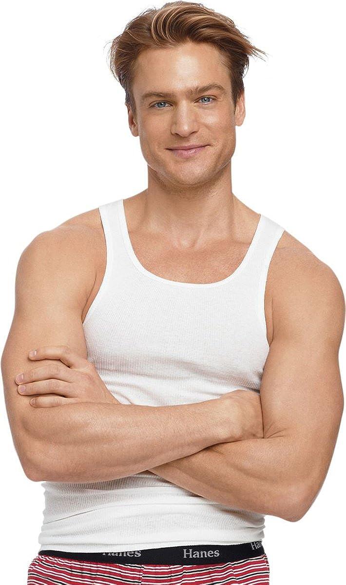 Hanes Mens Tagless ComfortSoft White A-Shirt 5-Pack